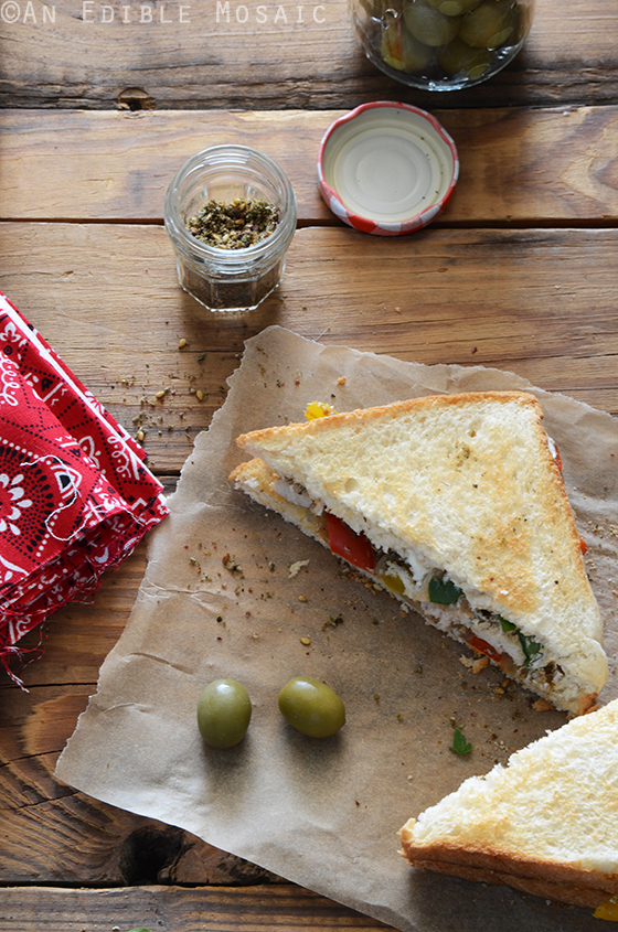 Za'atar-Spiced Chicken and Bell Pepper Sandwiches with Labneh