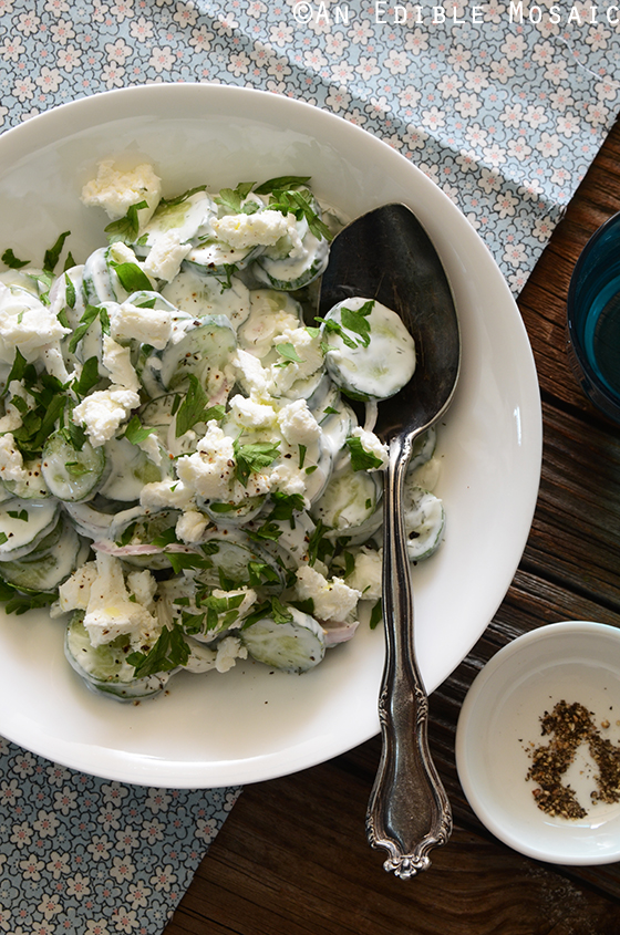 Creamy Cucumber Salad with Goat Cheese and Dill 4