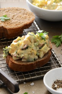 Egg Salad with Bacon and Creamy Honey Mustard Dressing