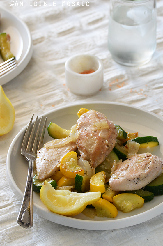 One-Skillet Chicken and Summer Squash Sauté 2
