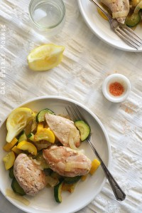 One-Skillet Chicken and Summer Squash Sauté {Paleo}