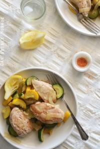 One-Skillet Chicken and Summer Squash Sauté {Paleo}
