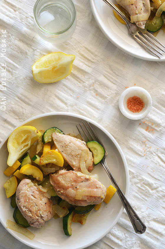 One-Skillet Chicken and Summer Squash Sauté