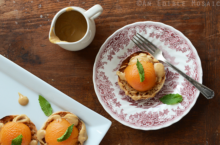 Apricot Benedict with Peanut Sauce 2