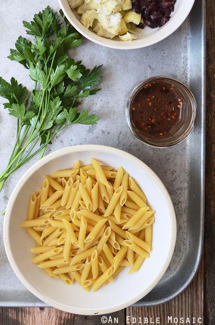 Mediterranean Pasta Salad Recipe Ingredients