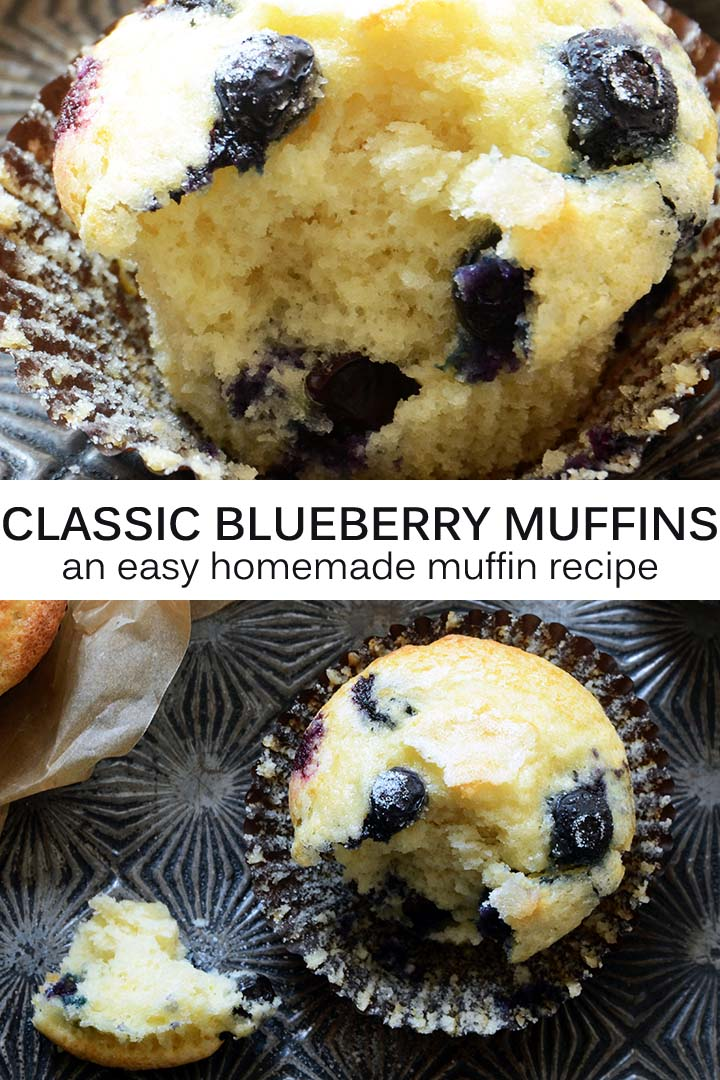 Blueberry Muffins Recipe Pin