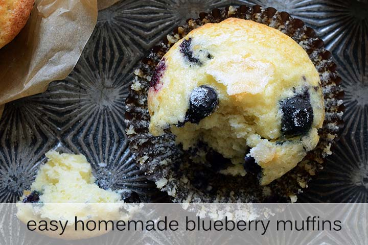 Easy Homemade Blueberry Muffins with Description