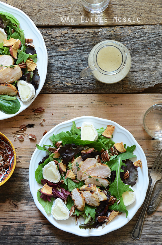 Apple, Onion, and Thyme Marinated Chicken Salad with Toasted Pecans