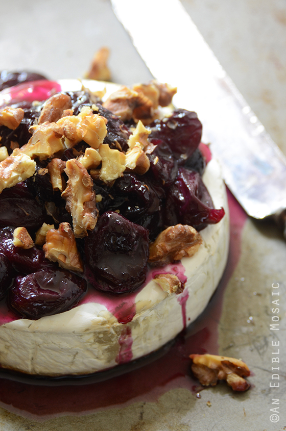 Baked Brie with Warm Honeyed Grapes and Walnuts 3