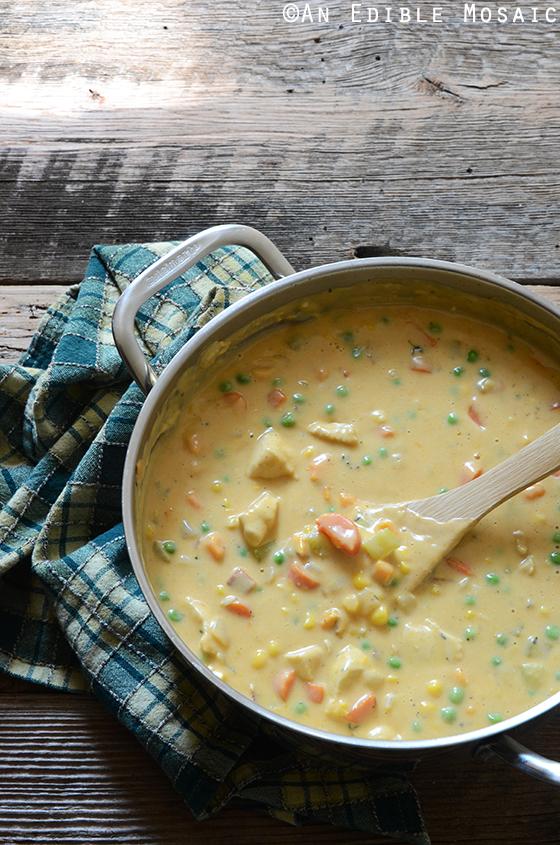 Cheesy Chicken Vegetable Cobbler 3