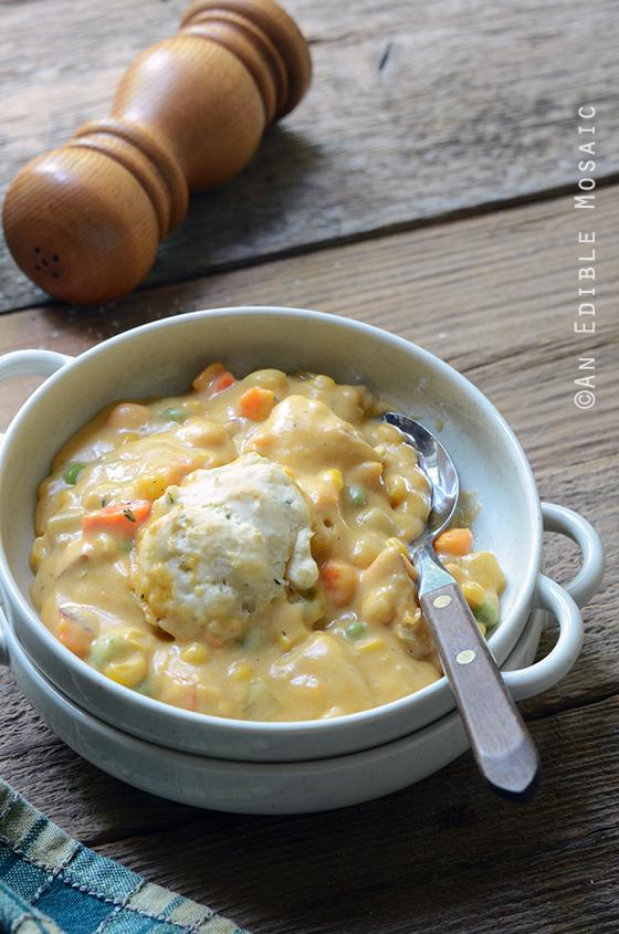 Cheesy Chicken Vegetable Cobbler 4