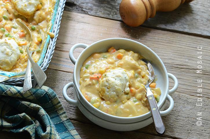 Cheesy Chicken Vegetable Cobbler 5