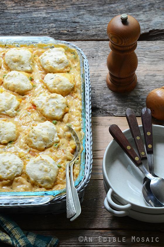 Cheesy Chicken Vegetable Cobbler