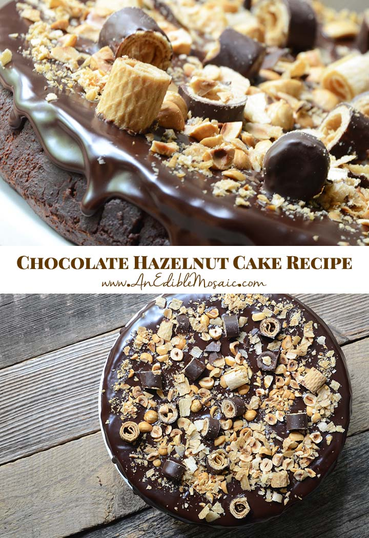 Chocolate Hazelnut Cake Recipe Pin