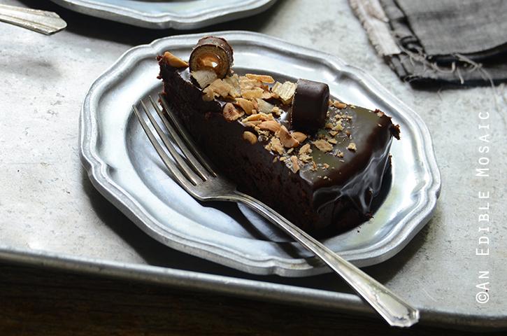 Flourless Chocolate Pear Hazelnut Cake with Bahlsen Waffeletten 7