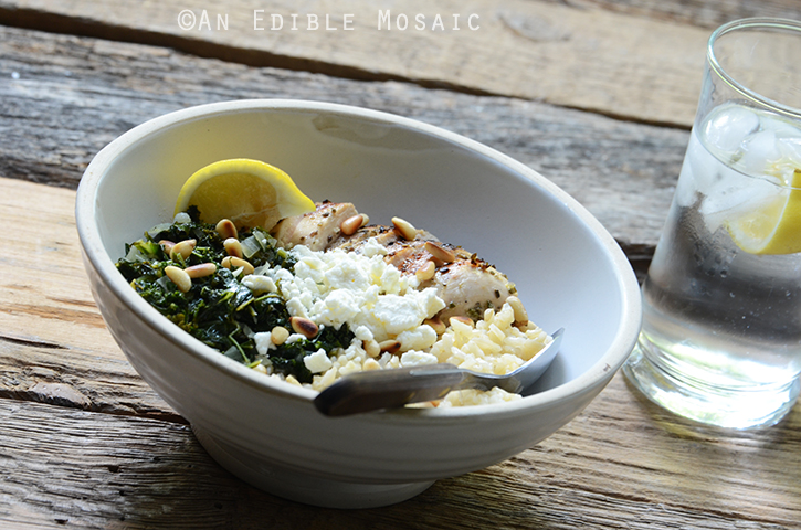 Herbed Chicken and Brown Rice Spanakopita Bowls 4