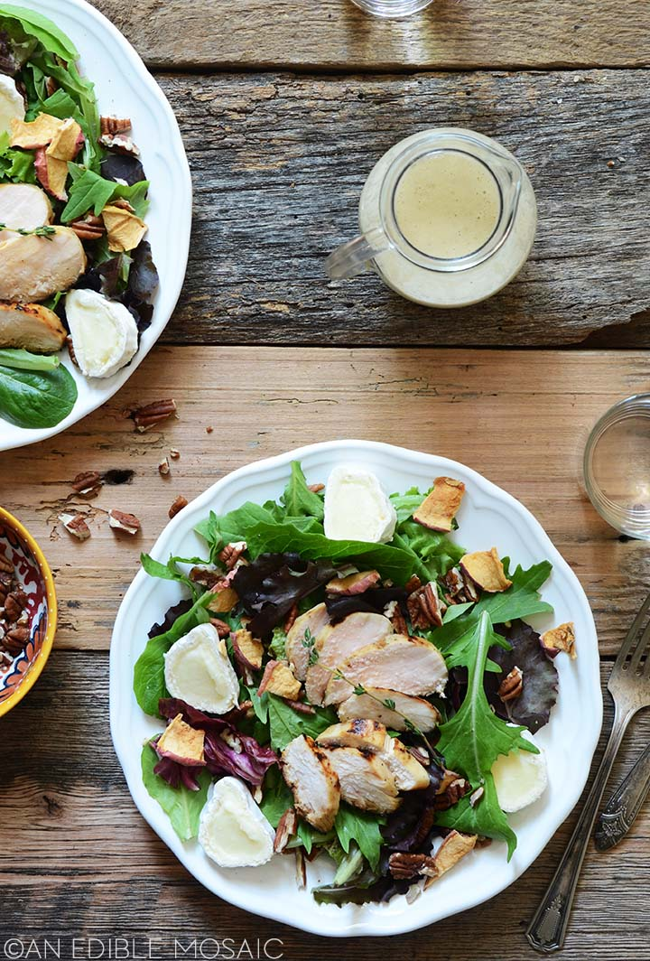 fall chicken salad with apple
