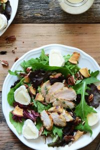 marinated chicken salad with apple featured image