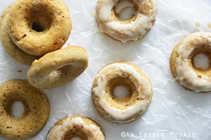 Top View of Apple Donuts Recipe on Wax Paper