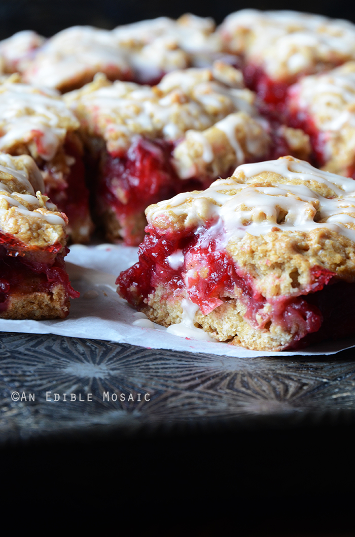 Cranberry-Oat Jam Bars