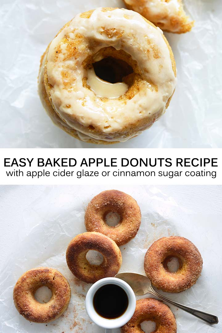 Easy Baked Apple Donuts Recipe Pin