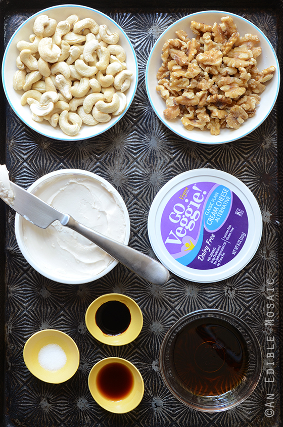 Maple Walnut Cheesecake Truffle Ingredients