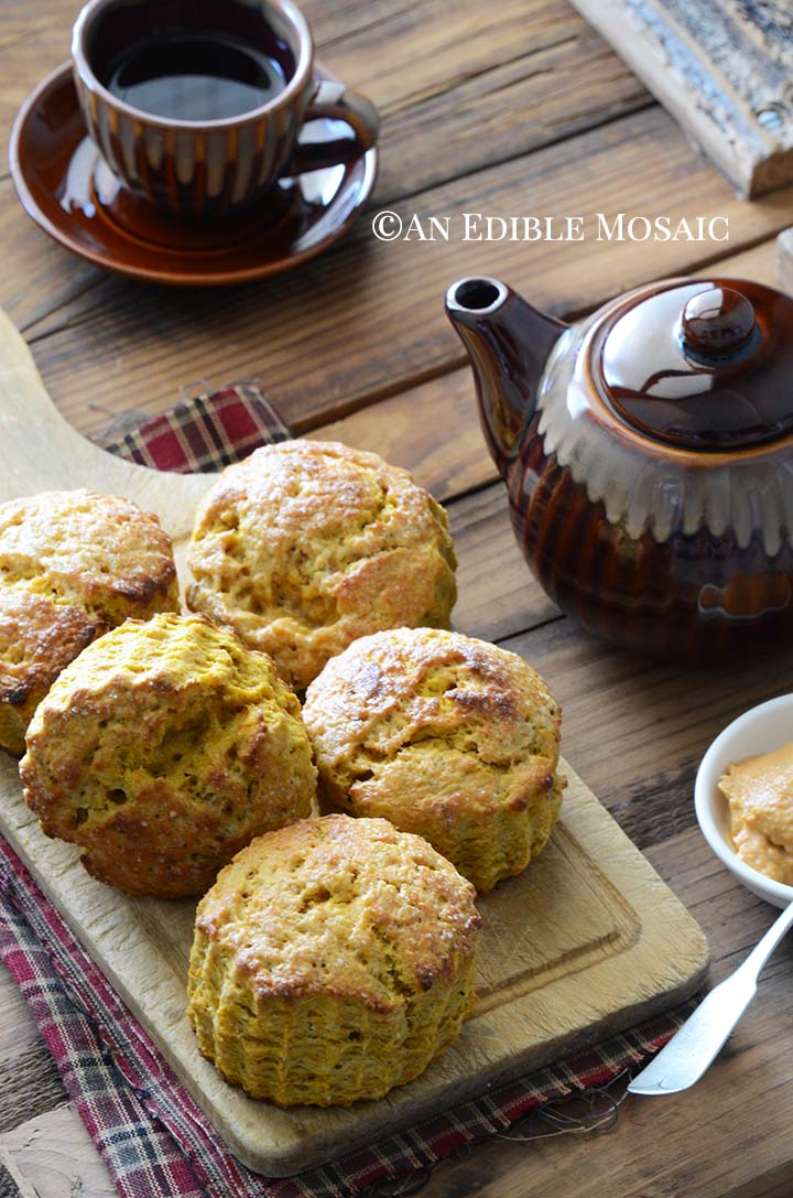 Pumpkin Scones Recipe on Wooden Cutting Board