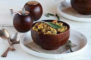 Turkey-Sage Cornbread Stuffing