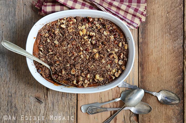 Vanilla-Scented Sweet Potato Casserole with Toasted Hazelnut Streusel Topping {Paleo} 4