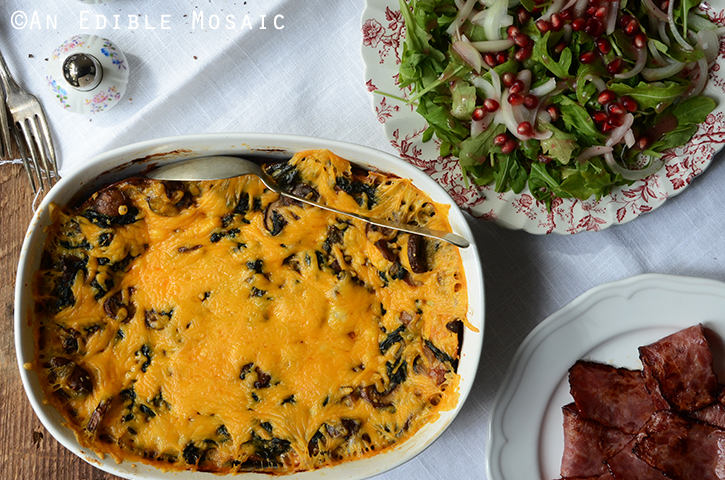 Breakfast Sausage and Spinach Strata 4