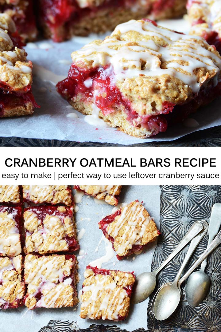 Cranberry Oatmeal Bars Recipe Pin
