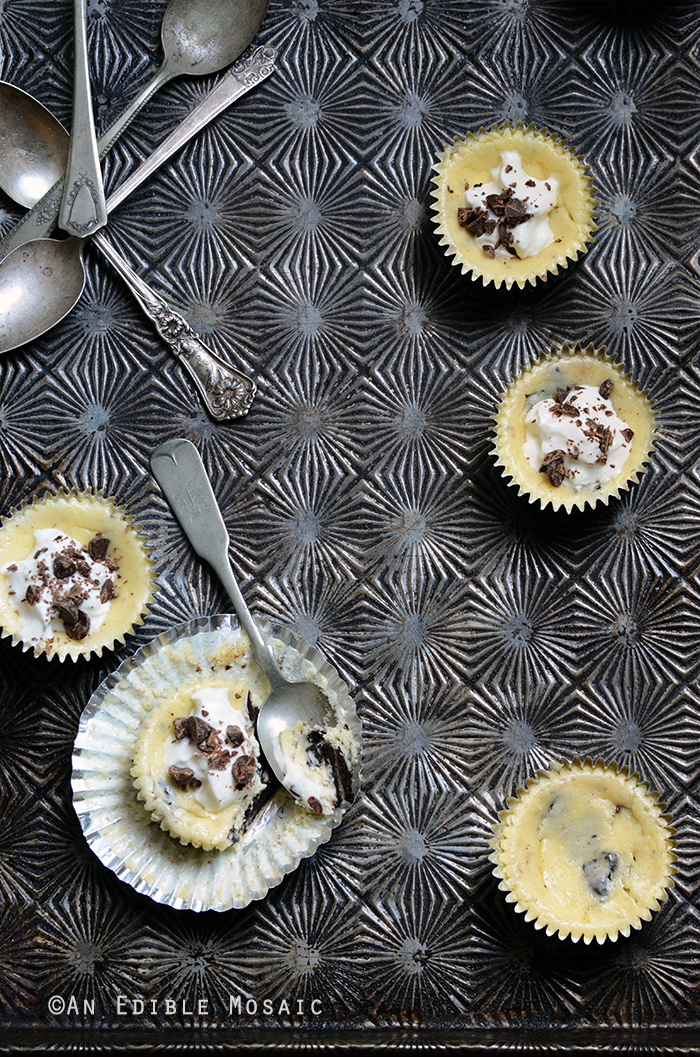 Individual Cookies and Cream Cheesecakes 2