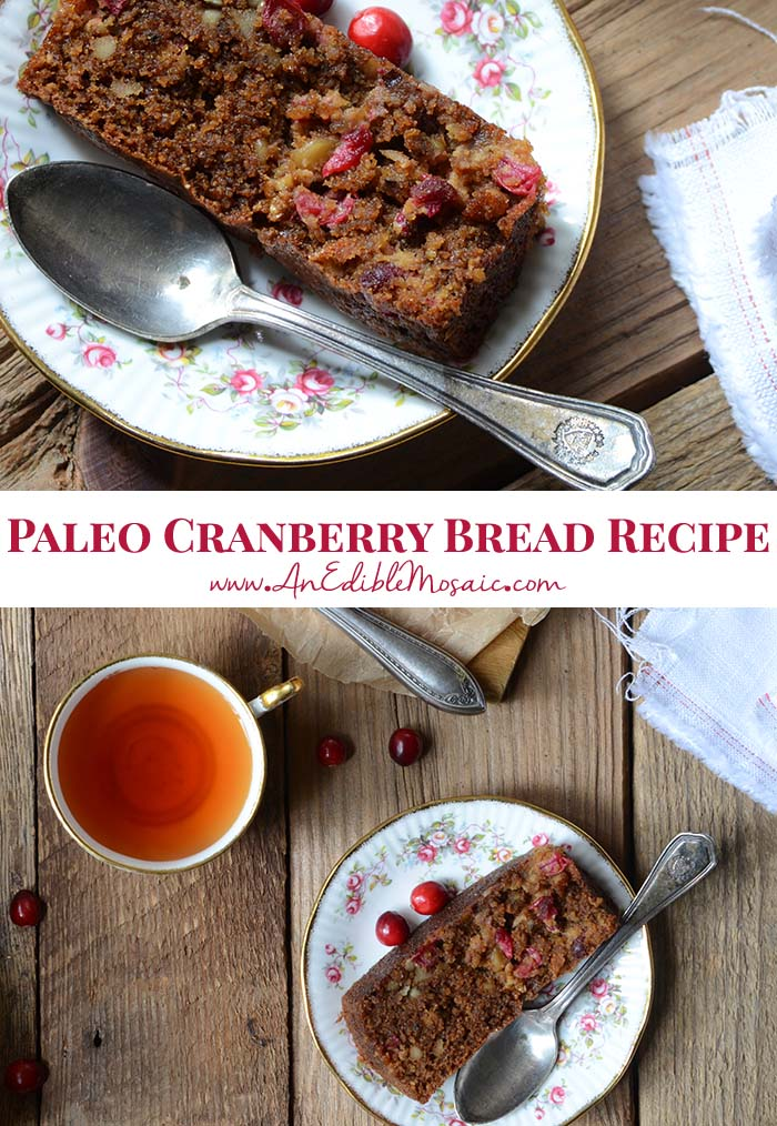 Paleo Cranberry Bread Recipe Pin