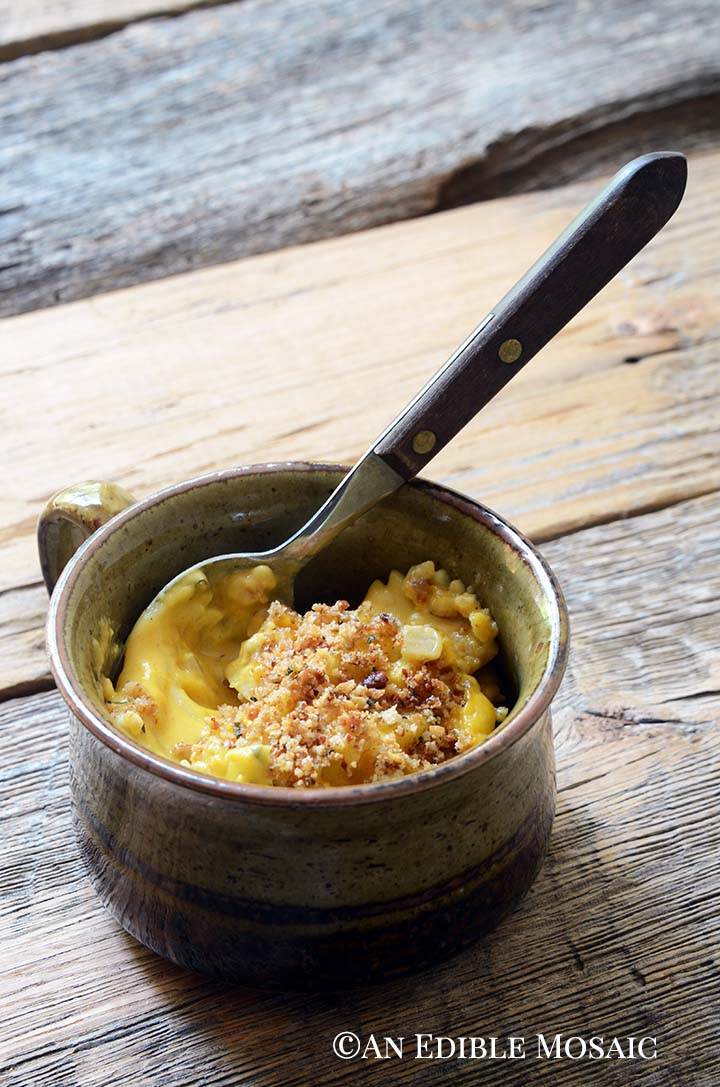 Pumpkin Mac and Cheese in Stoneware Mug