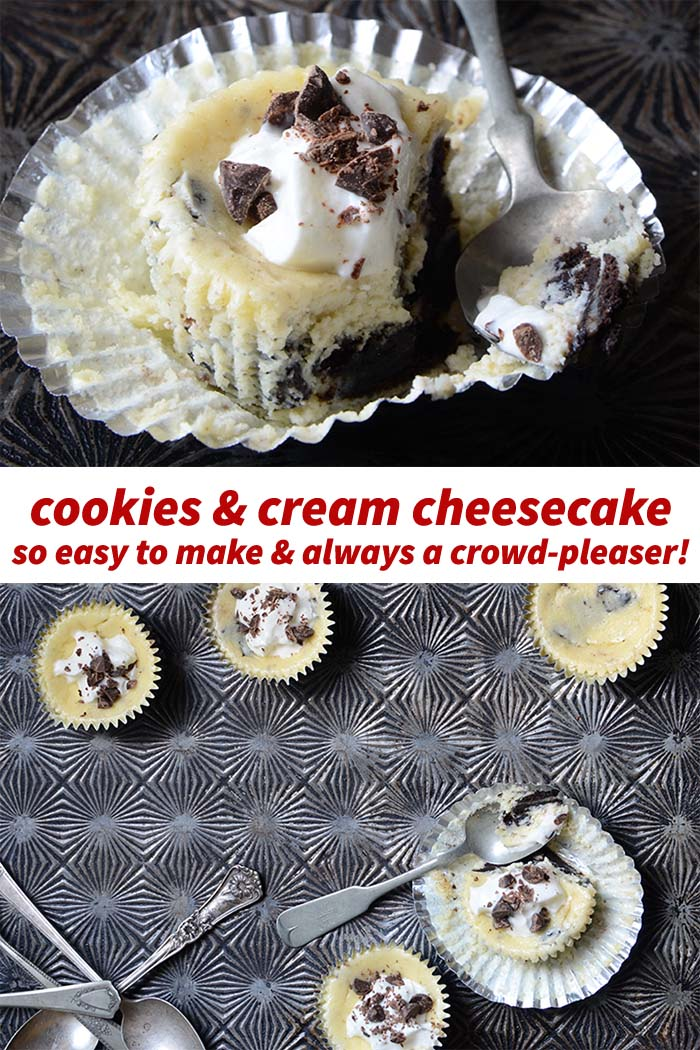 Cookies and Cream Cheesecake Cups Recipe Pin