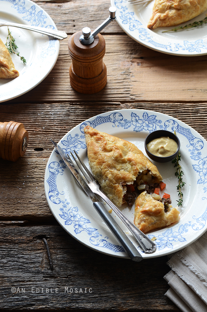 Herbed Beef Pasties with Carrot and Parsnip
