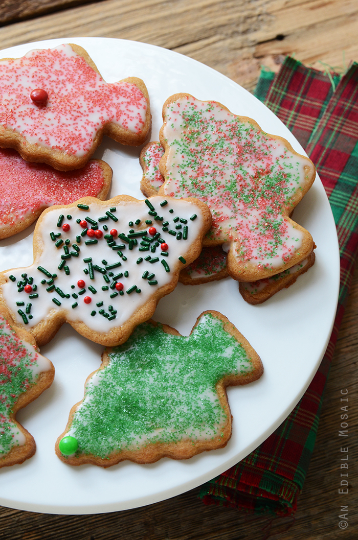 Iced Peanut Butter Christmas Tree Cookies 2