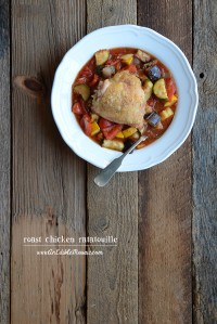 Roast Chicken Ratatouille {Paleo}