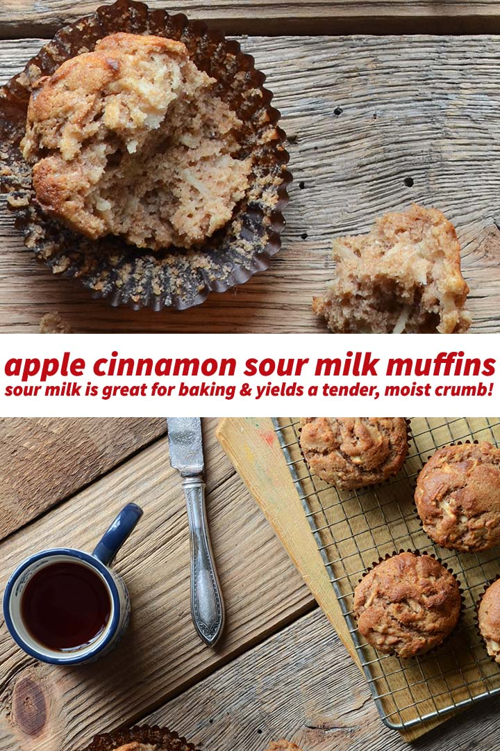 Apple Cinnamon Sour Milk Muffins Pin