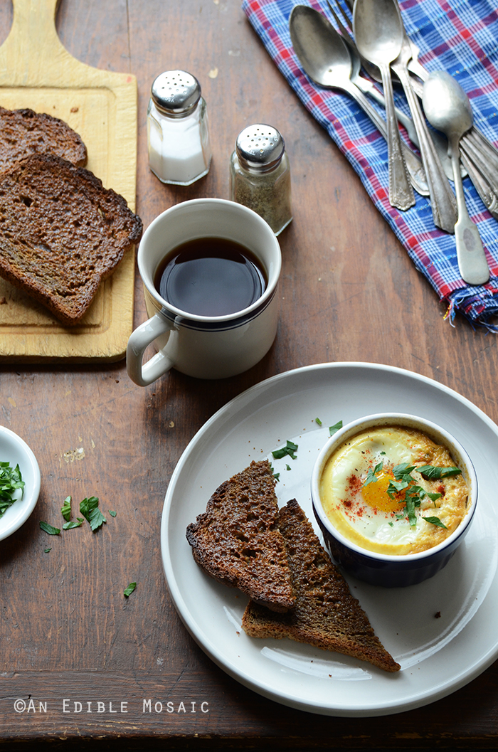 Baked Eggs with Smoky Caramelized Onion and Wilted Chard {Lactose-Free; Gluten-Free} 3