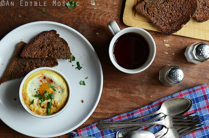 Baked Eggs with Smoky Caramelized Onion and Wilted Chard {Lactose-Free; Gluten-Free} 4