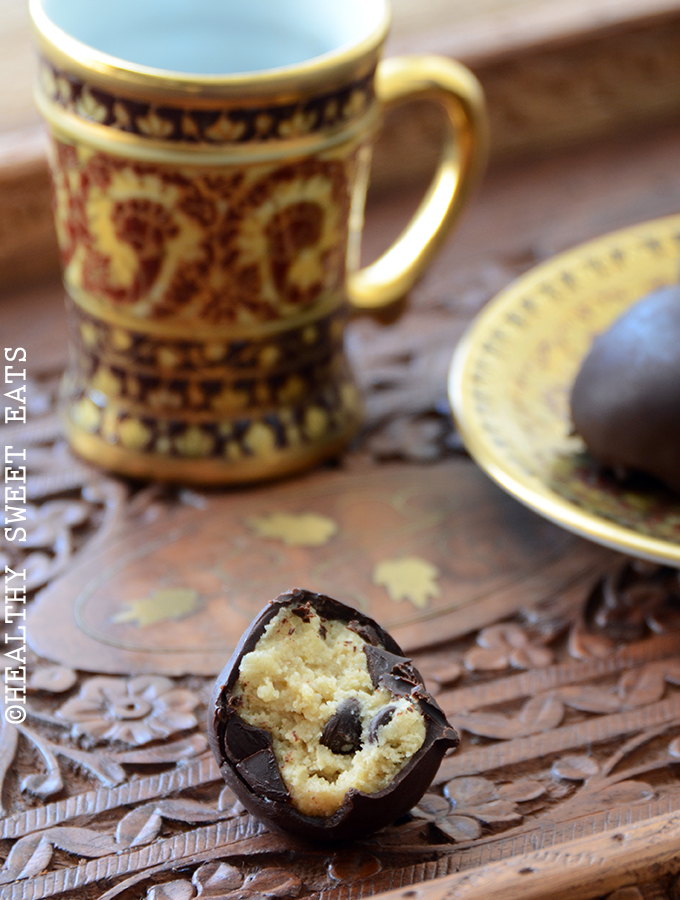 Chocolate Chip Banana Cookie Dough Truffles