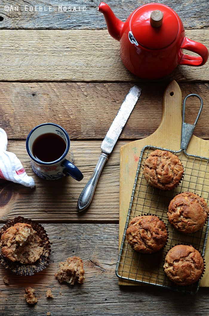 Whole Wheat Sour Milk Apple Cinnamon Muffins