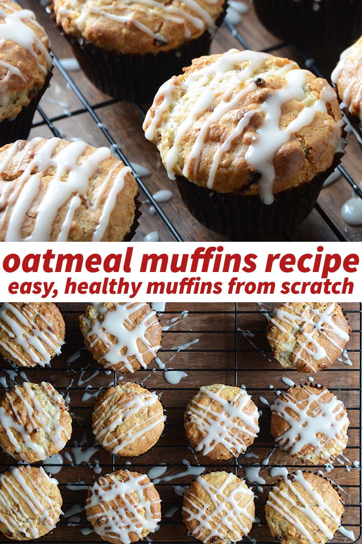 Oatmeal Muffins Recipe Pin