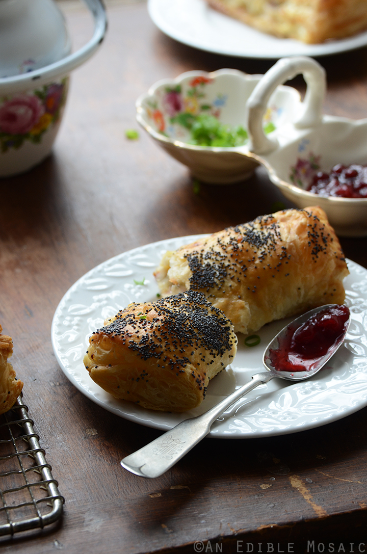 Savory Camembert Turnovers with Honey-Roasted Turkey and Lingonberry Jam 2