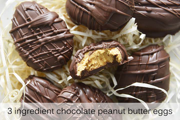 3 Ingredient Chocolate Peanut Butter Eggs