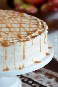 Close Up of Caramel Apple Cake