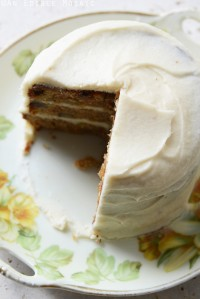 Carrot Cake with Maple Buttercream for Two