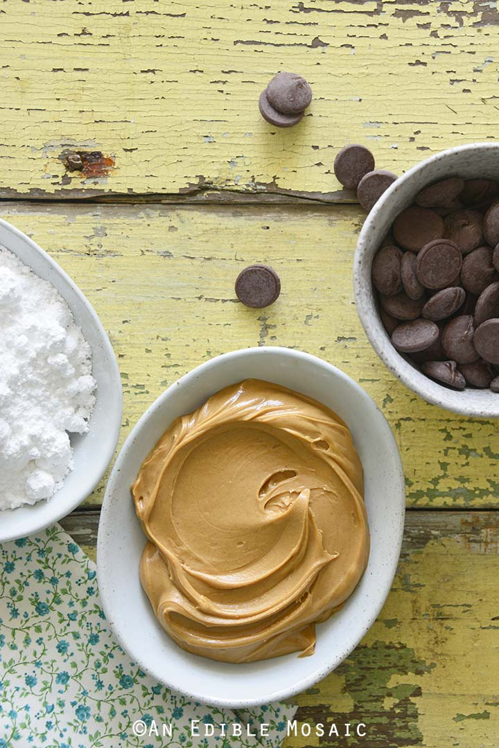 Chocolate Peanut Butter Eggs Ingredients
