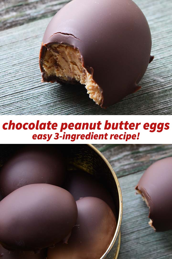 Chocolate Peanut Butter Eggs Recipe Pin